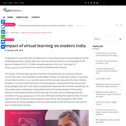Impact of Online Classes in Education