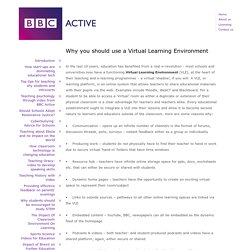 Why you should use a Virtual Learning Environment
