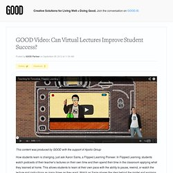 Video: Can Virtual Lectures Improve Student Success?