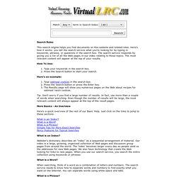 Virtual LRC Search Engine