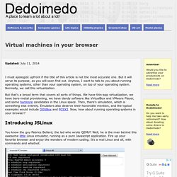 Virtual machines in your browser
