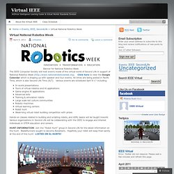 Virtual National Robotics Week « Virtual IEEE