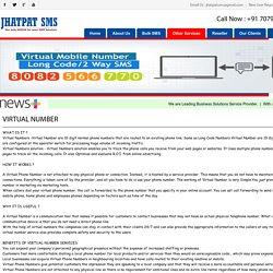 Virtual Phone Number Service India - Jhatpat SMS