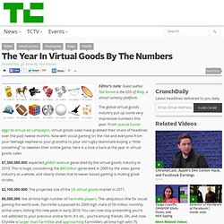 The Year In Virtual Goods By The Numbers