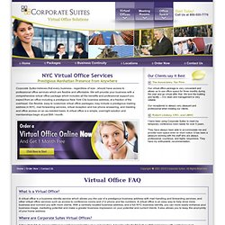 Virtual Office NYC | New York City Virtual Office | Corporate Suites