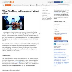 What You Need to Know About Virtual Office