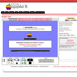 Virtual Apple 2 - Online disk archive -- Oregon Trail