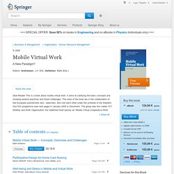 Mobile Virtual Work - A New Paradigm?
