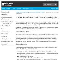 Virtual School Head and Private Tutoring Pilots