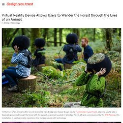 Virtual Reality Device Allows Users to Wander the Forest through the Eyes of an Animal