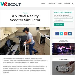 A Virtual Reality Scooter Simulator - VRScout