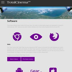 Total Cinema 360: Virtual Reality Software