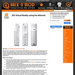 DIY Virtual Reality using the Wiimote
