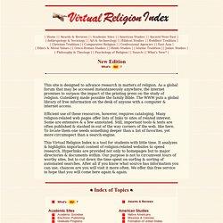 RE: Virtual Religion Index