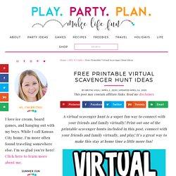 Fun Virtual Scavenger Hunt Ideas {Free Printable!} - Play Party Plan