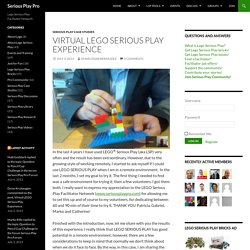 Virtual LEGO Serious Play Experience