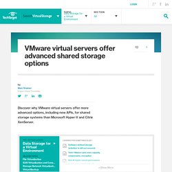 VMware virtual servers offer advanced shared storage options