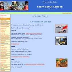 A Virtual Trip to London - A student activity