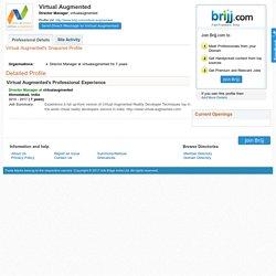 Virtual Augmented's Profile - Director Manager, virtualaugmented - View Professional Profile of Virtual Augmented - Brijj.com