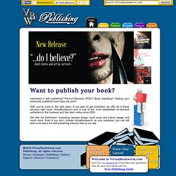 Virtualbookworm Print on Demand and Self Publishing