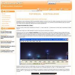 Couper sequence video avec virtualdub : couper générique, supprimer partie video