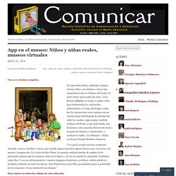 App en el museo: Niños y niñas reales, museos virtuales