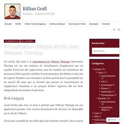 Virtualisation d'Applications avec VMware ThinApp – Killian Grall
