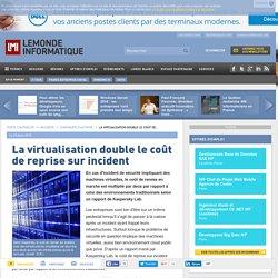 La virtualisation double le coût de reprise sur incident