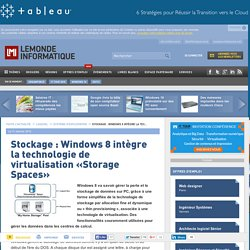 Stockage : Windows 8 intègre la technologie de virtualisation «Storage Spaces» - Le Monde Informatique
