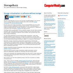 Storage virtualisation vs software-defined storage - StorageBuzz
