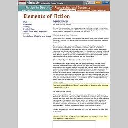 virtuaLit Fiction: Elements of Fiction