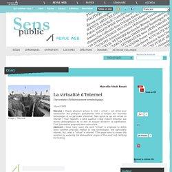 La virtualité d'Internet Sens Public