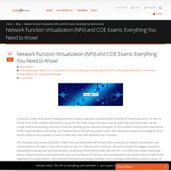 Network Function Virtualization (NFV) and CCIE Exams: Everything You Need to Know!