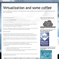 Virtualization and some coffee: Live cloning in SCVMM 2012 R2