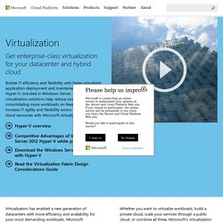Virtualization for your modern datacenter and hybrid cloud