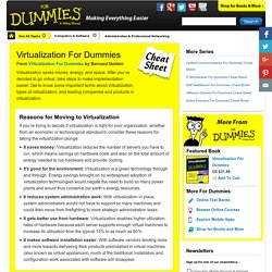 Virtualization For Dummies Cheat Sheet