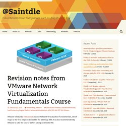 Revision notes from VMware Network Virtualization Fundamentals Course - @Saintdle