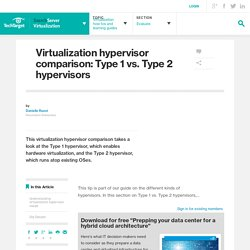Virtualization hypervisor comparison: Type 1 vs. Type 2 hypervisors