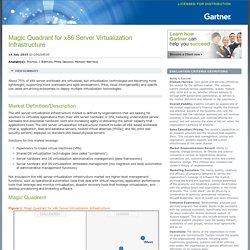 Magic Quadrant for x86 Server Virtualization Infrastructure
