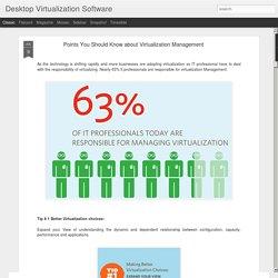Desktop Virtualization Software: Points You Should Know about Virtualization Management