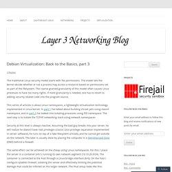 Debian Virtualization: Back to the Basics, part 3
