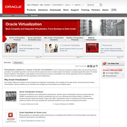 Oracle Virtualization