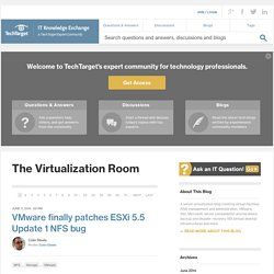 The Virtualization Room - A SearchServerVirtualization.com and SearchVMware.com blog