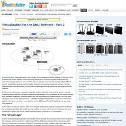Virtualization for the Small Network - Part 2