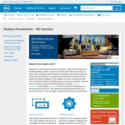 Desktop Virtualization - VDI Solutions