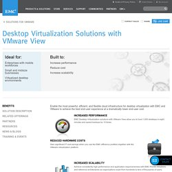 Desktop Virtualization Solutions with VMware View
