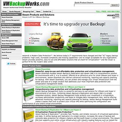 Veeam VMware vSphere, ESX & ESXi Backup and Virtualization Management | VMBackupWorks.com