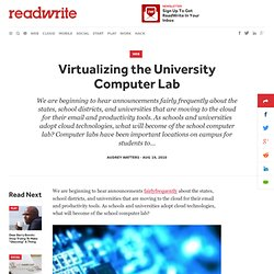 Virtualizing the University Computer Lab