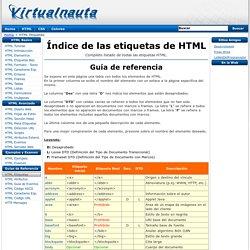 Manual HTML - Índice de Elementos