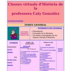 Index General classes virtuals d'Història de la professora Caty González
